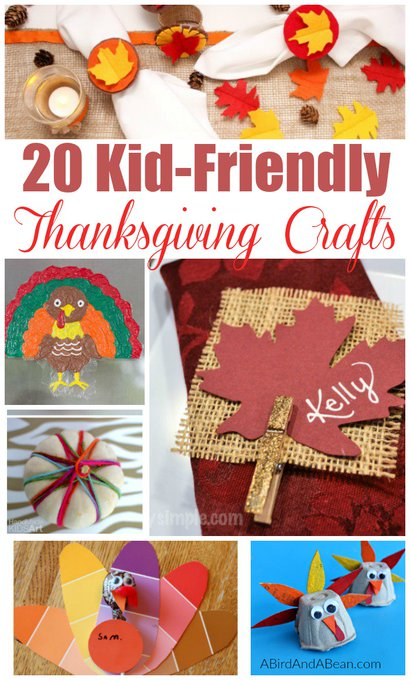 20 Easy Thanksgiving Crafts For Kids holidays