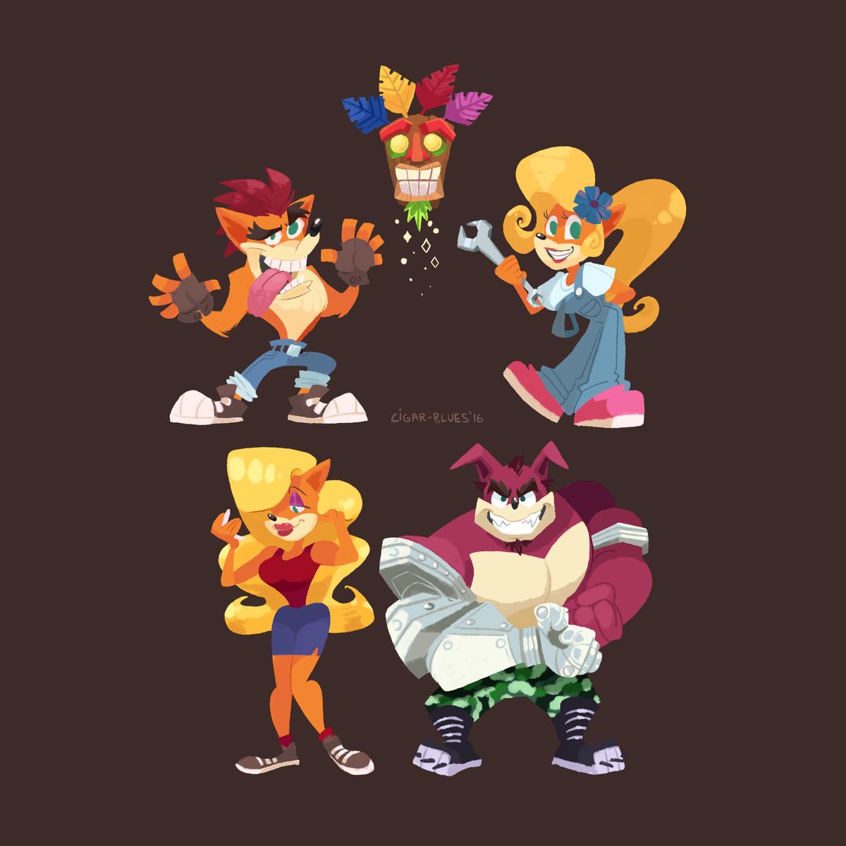 Cig Twitter Crash Bandicoot Cast Lineup Heroes