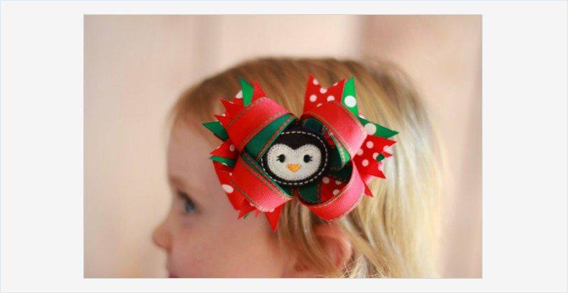 クリスマスボウが素敵♡ベビーやキッズに♡クリスマスのリボン飾り♪