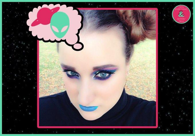 Futuristic galaxy beauty look! Futuristic Makeup Look bbloggers makeup beautiesonfire
