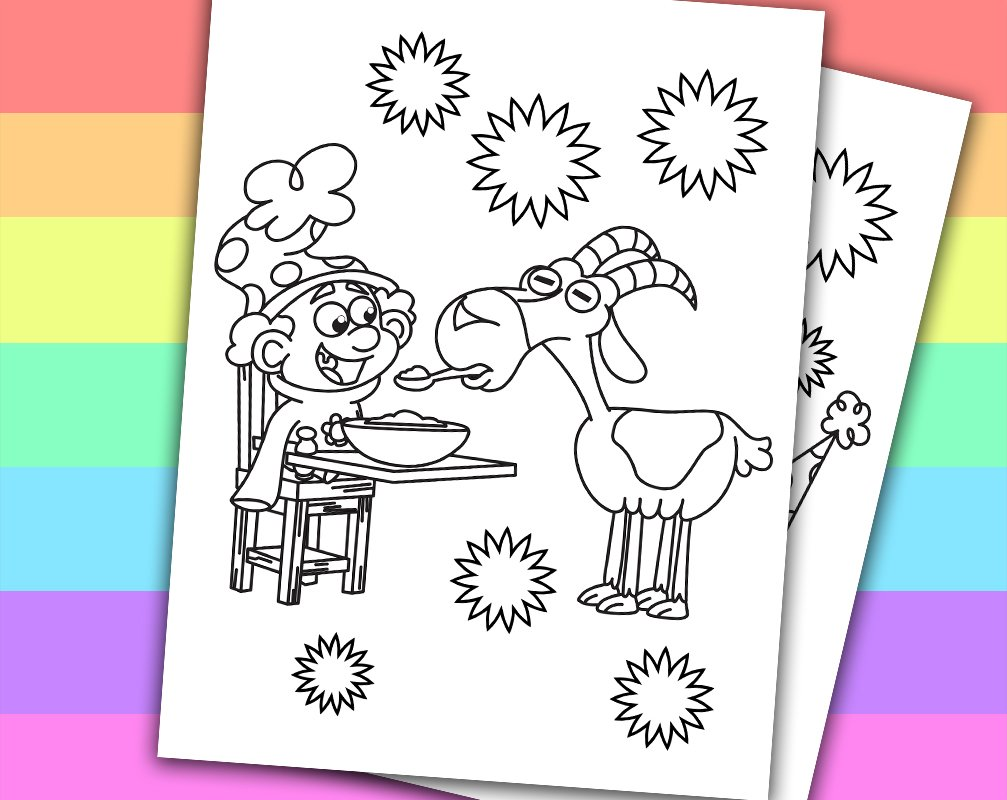 The 7D Printable Coloring Pages 3 | 800x1007
