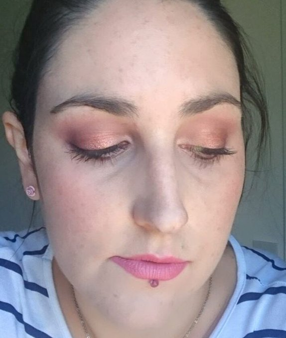 Recent rosegold makeupoftheday using ColourPopCo Weenie & Spritz!makeup bbloggers MOTD