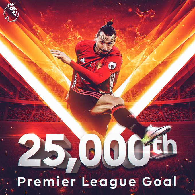 Ibrahimovic inscrit le 25 000e but de la Premier League