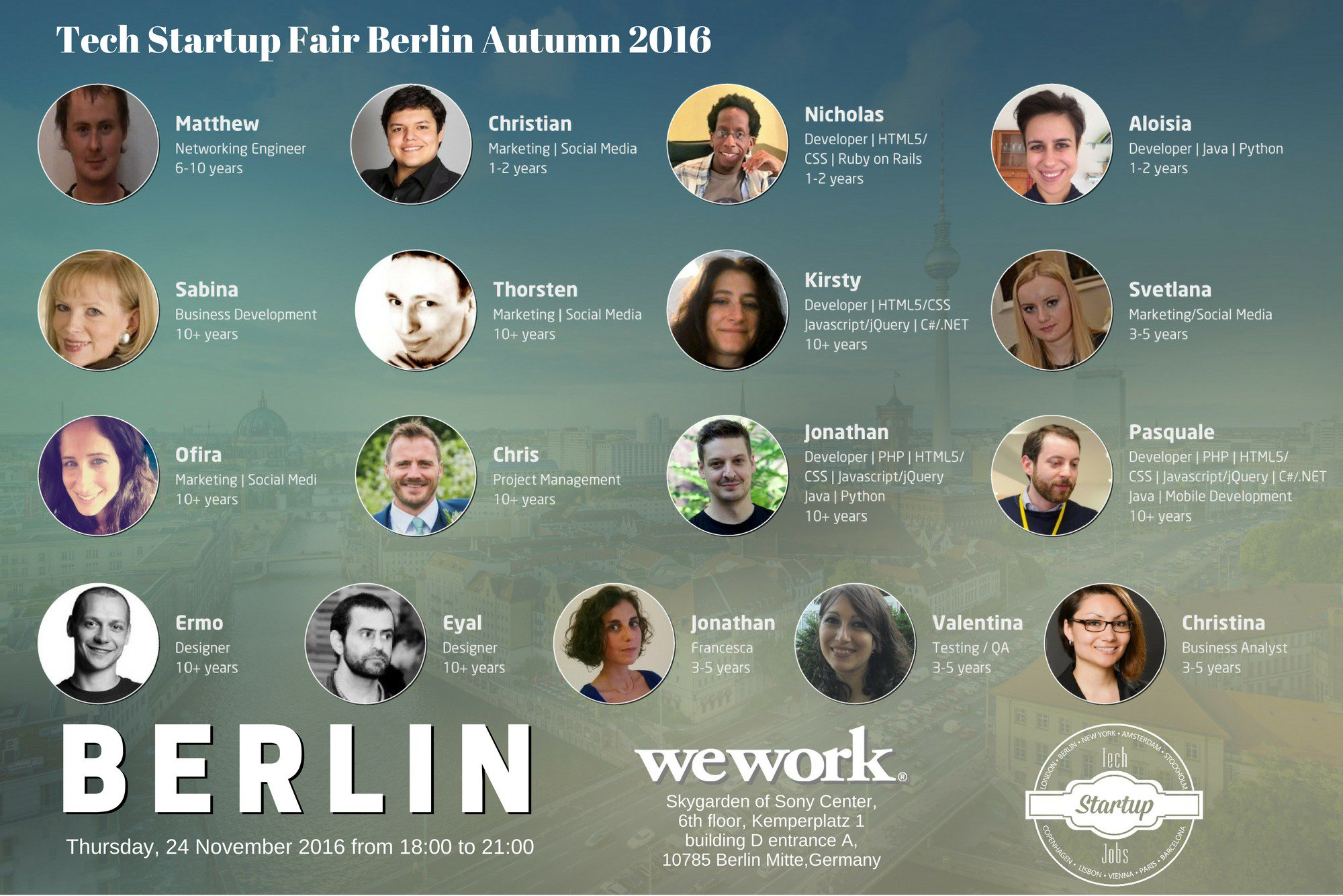 ⚡️Looking for a #job ? Good #news : Join #Berlin Tech Startup Fair Autumn https://t.co/iAcNyccJln #jobfair #hiring #event #tech #startup https://t.co/8RV4oYYdy0
