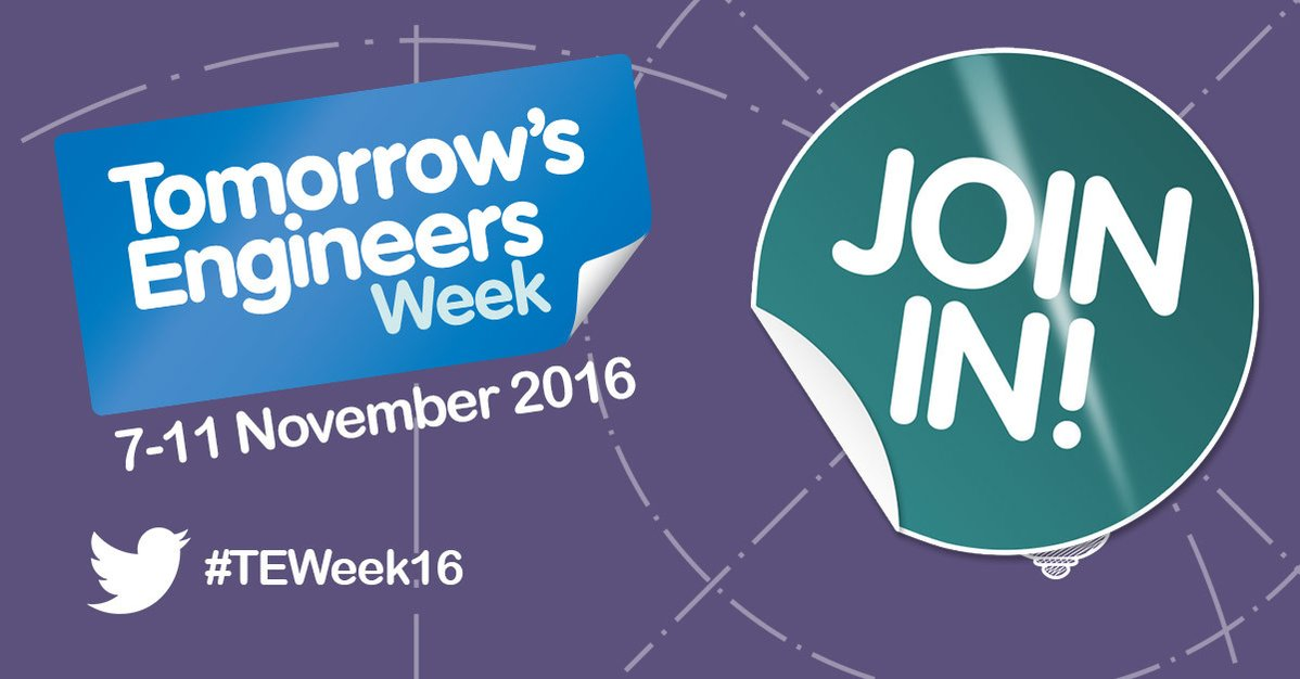 #TEWeek16 is here! We're at @STEMLearningUK in #York today with @IMechE_Yorks @TheIET & @iom3 inspiring the engineers of the future. https://t.co/r2pTCi2SPH