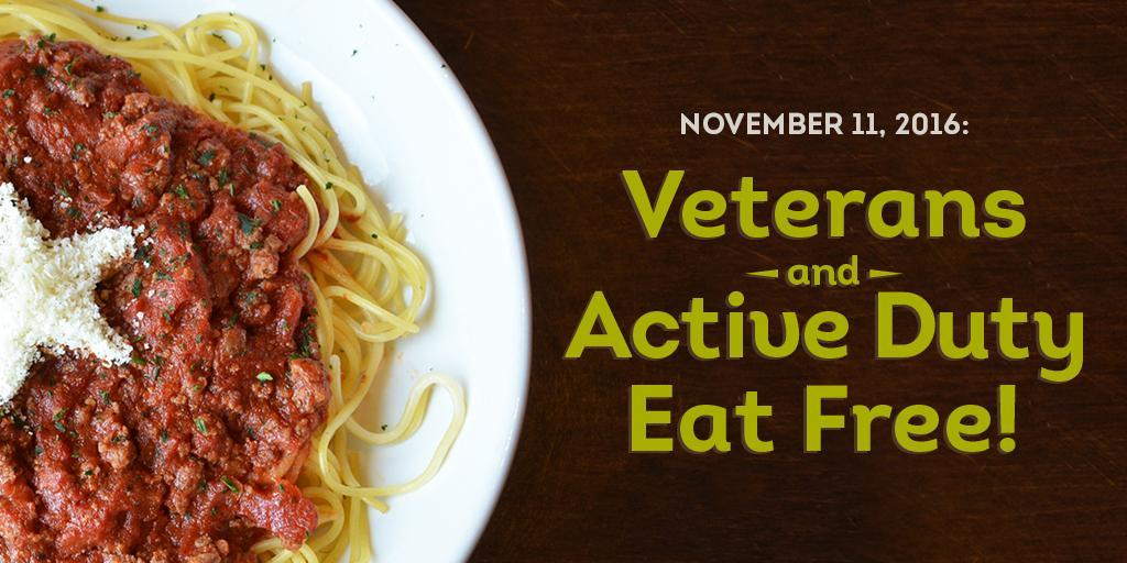 Olive Garden On Twitter Spread The Word All Veterans Can Enjoy A Free Entree This Friday