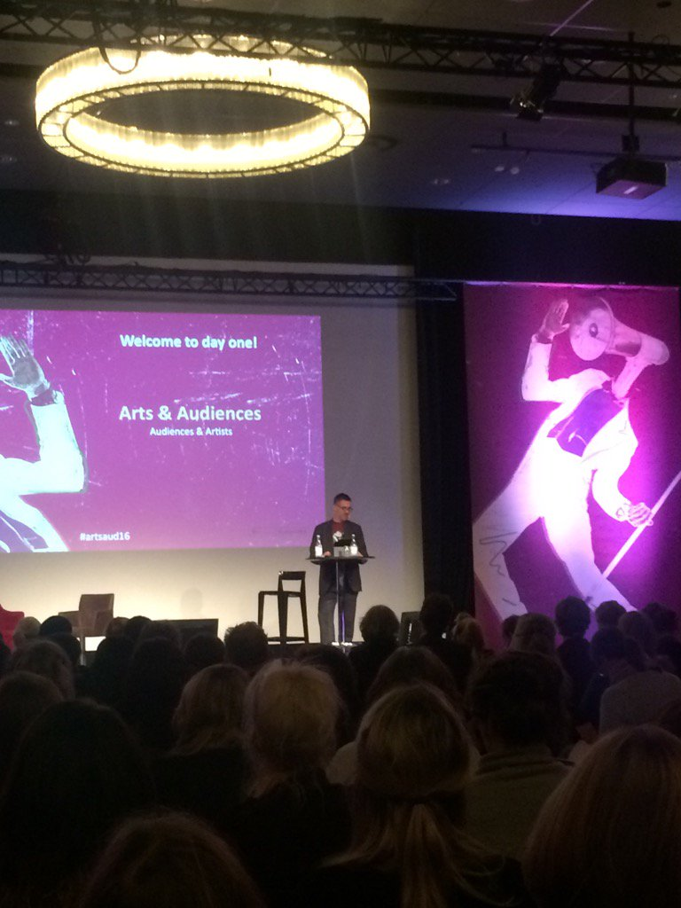 Henrik Martén opening this years Arts and Audiences Leading Transition. 370 delegates will discuss leadership & Arts https://t.co/kkIvKEtQA2