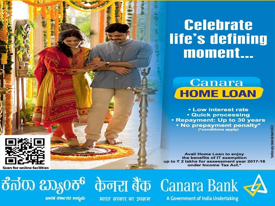 canara bank home loan online apply