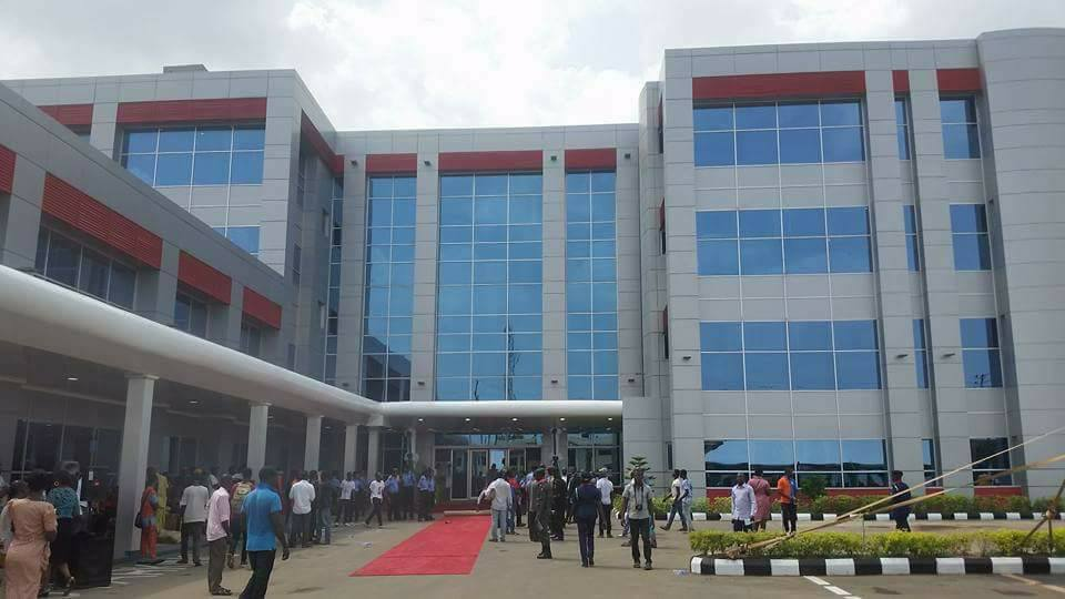 Image result for BUHARI  commissioning of the new Central Hospital in Benin