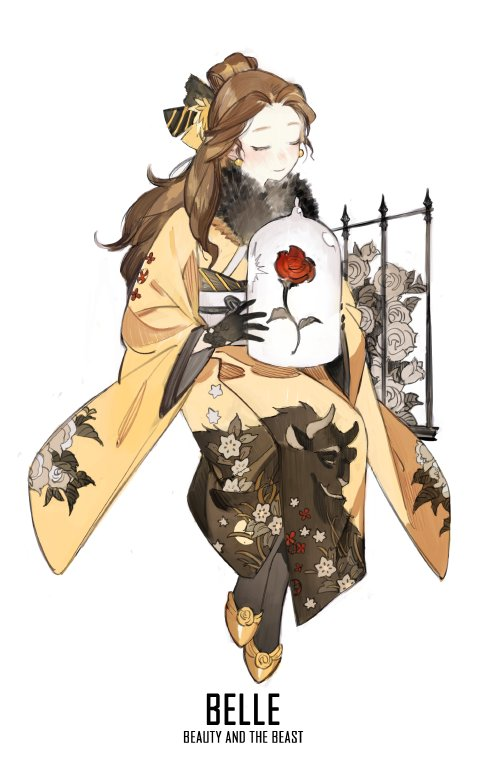 belle en kimono