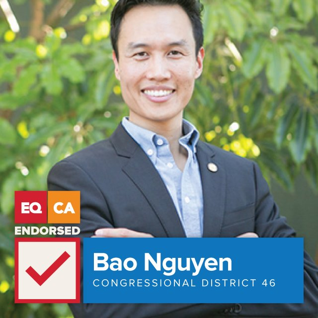 We endorse @OfficialBao Nguyen for #CD46! For a full list of our endorsements: bit.ly/2dQnJAP