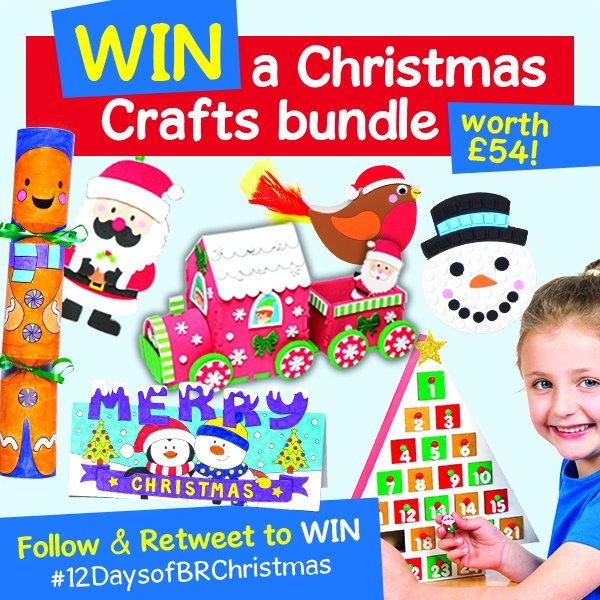 RT+F to WIN crafts in our TV ad! More chances to win 12DaysofBRXmas
