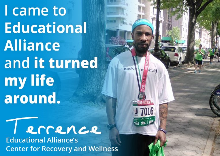 Educational Alliance On Twitter CONGRATS To Terrence And The Rest Of Our Center For Recovery Wellness Team Running NYC Marathon This Weekend