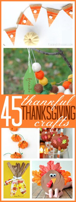 45 Thankful Thanksgiving Crafts for Kids crafts kids edchat