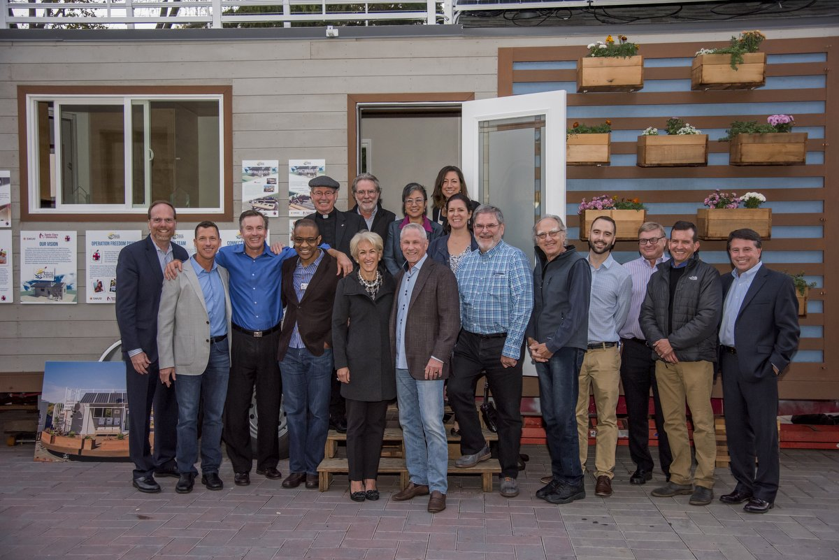 The Miller Center Advisory Board toured the #SCUTinyHouse last week & met the students who created it. Learn more: https://t.co/QT9GVByeJj https://t.co/NDerOIWux6