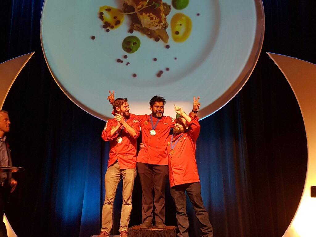 🏅 Podium finishers at #GMPOttawa: GOLD Joe Thottungal, silver @JamieStunt, bronze Chef Marc Doiron. Congratulations! https://t.co/w9CmPqVlV0