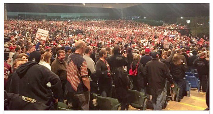 ENORMOUS crowd attending a Trump rally in Sterling Heights Michigan... https://t.co/tfFVWELzIe