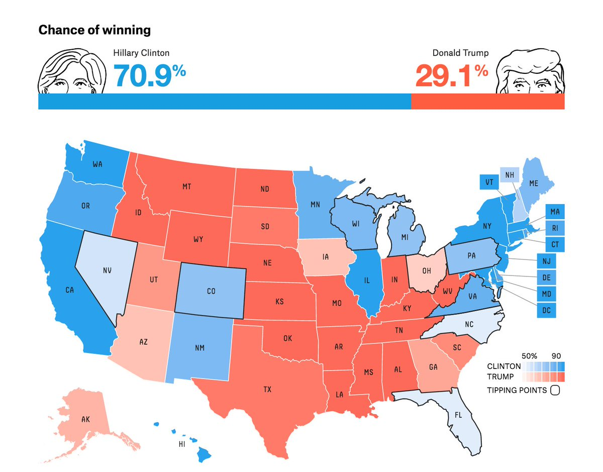 US Election Final Campaign Day As It Happened US News The - Us election 2016 map the guardian