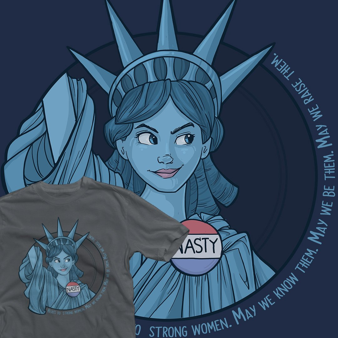 Teefury On Twitter Top Design Nasty Lady Liberty By Khallion Asty Is Just 11 Today Get Yours Now Https Tco Wjt45rdpus