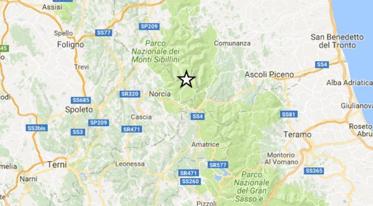 """""""Botto e movimento di letto e finestre"""", è il Terremoto di Arquata del Tronto (AP) di oggi 18 novembre."""