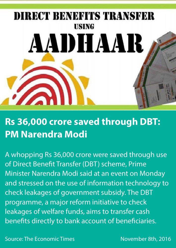 Rs 36,000 crore saved through DBT: PM Narendra Modi https://t.co/LOmXi9mjLm  via NMApp #TransformingIndia https://t.co/6FltpxFhdj