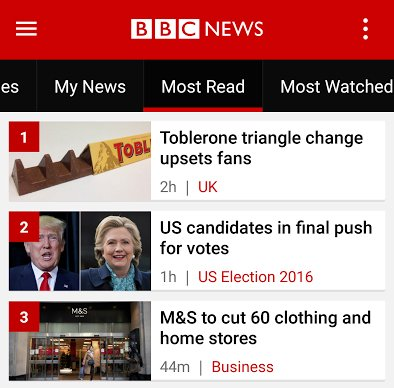 I'm so happy that readers of BBC News have got their priorities right. #Toblerone #Election2016 https://t.co/eeAlvoTqY6