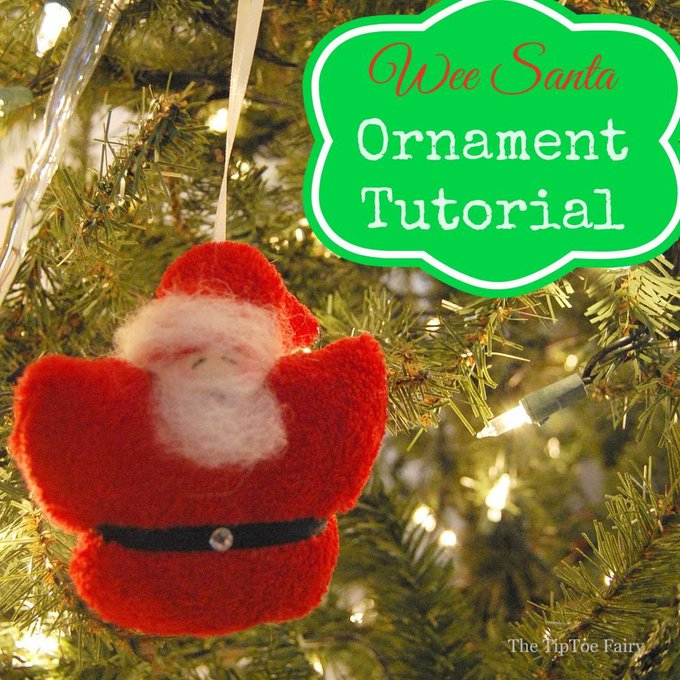 Make Wee Santa Ornaments! tutorial craft DIY