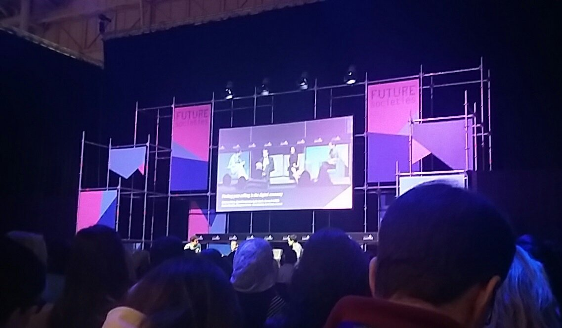 """""""Finding your calling in the digital economy"""":it rings a bell! Here we talk about impact, making sense, meditating & basic income #WebSummit https://t.co/gFZe1NQl6E"""