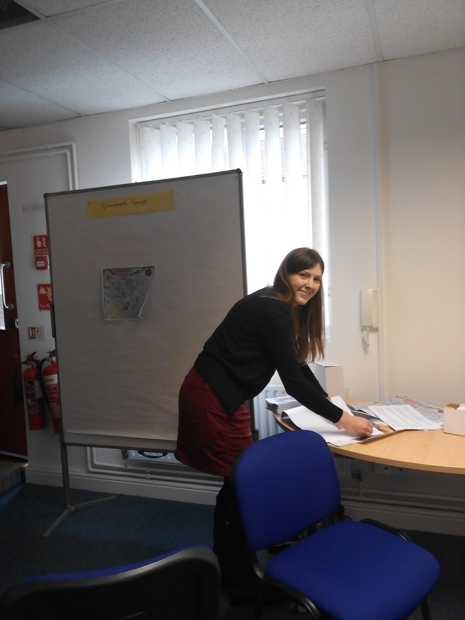 Rosalind @CreativeBCuk  preparing for today's #ourplace event. Welcome to @WolvesVSC! https://t.co/NE8dsWp1v0