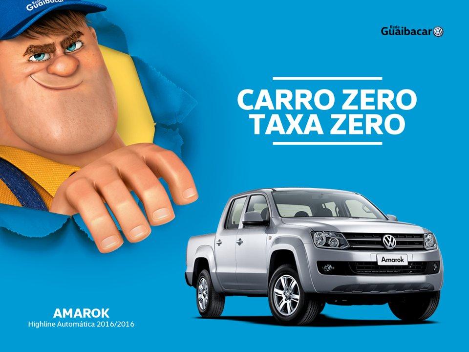 Carro Zero com taxa 0% é a Amarok na Guaibacar.  60% de entrada e saldo em até 24 vezes. Saiba mais: https://t.co/3pOt8p68AY https://t.co/8lNIciDPfV