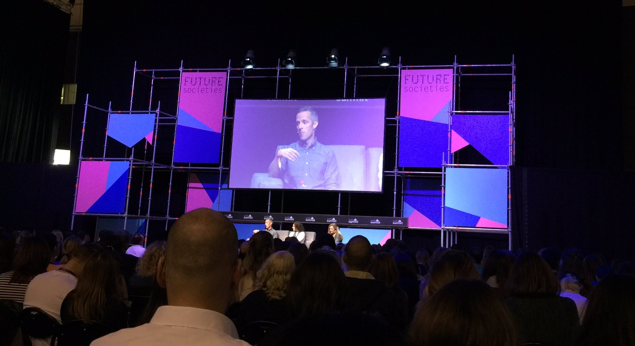 "#FutureSocieties at #websummit2016 stage talking about social good & tech companies -""give forward, not give back"" and values in tech https://t.co/WfCsPbXHTu"