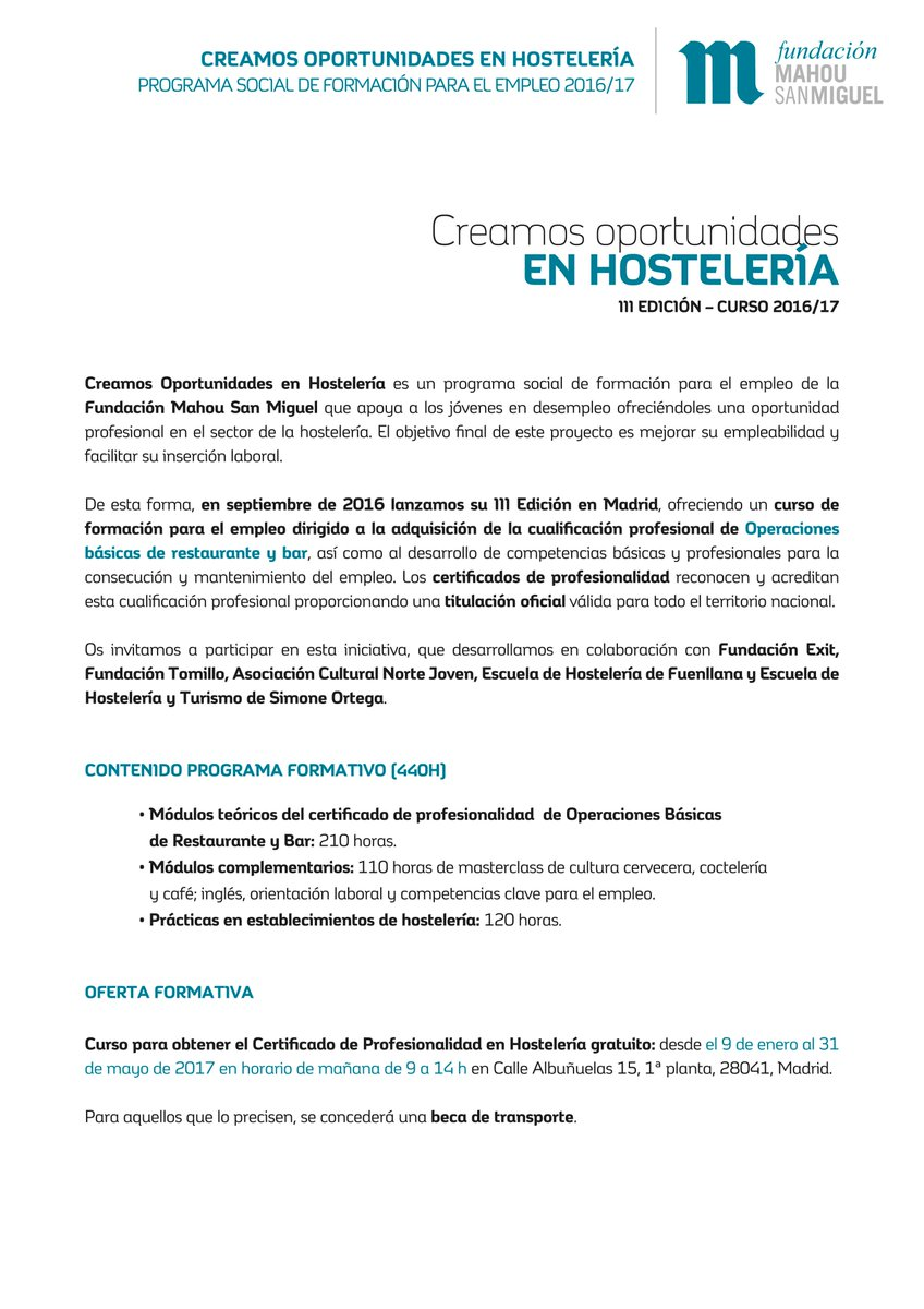 Fundación Tomillo on Twitter: \