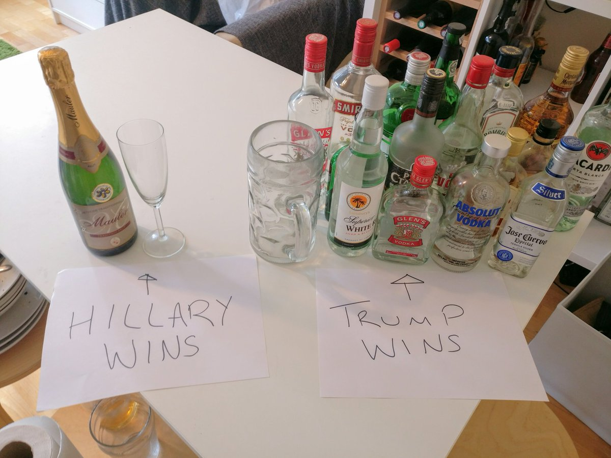 Just preparing for my election party tonight. #Election2016 https://t.co/8b2SVmbmTZ