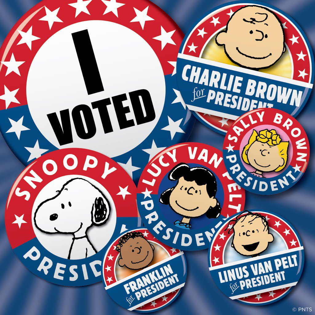 RT @Snoopy Time to vote! #ElectionDay