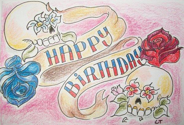 Братишке, картинки с днем рождения для татуировщика