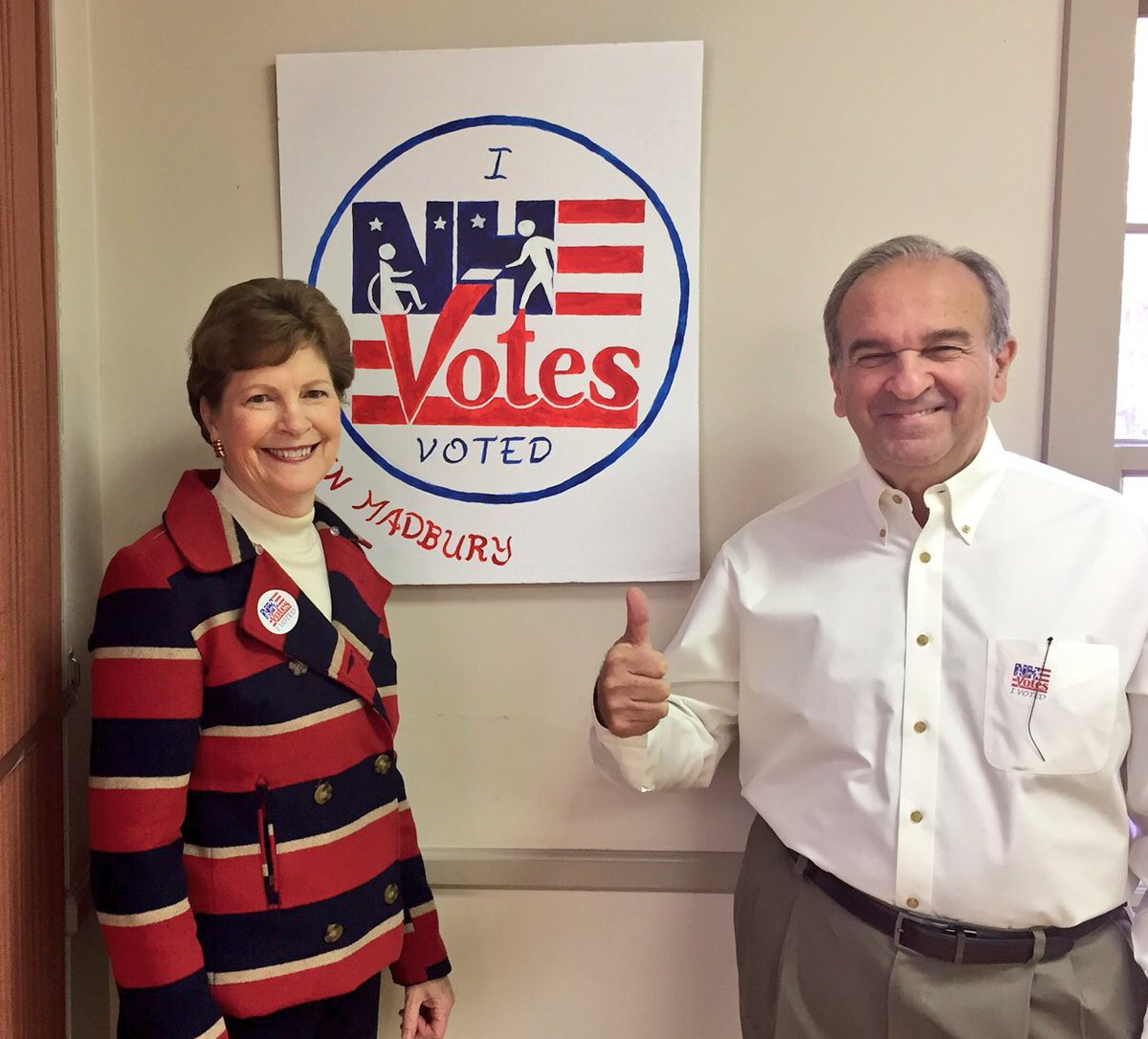 We just voted to elect the 1st woman to be our President. Let me tell you, it feels amazing! #nhpolitics