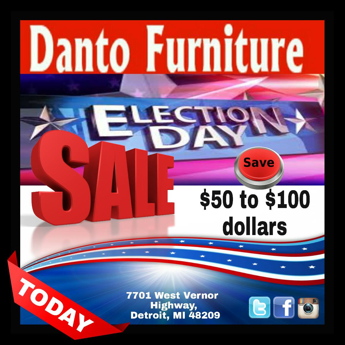 #ElectionDay SALE ☆ Join Us At #Danto 10% Off Of $50 Or