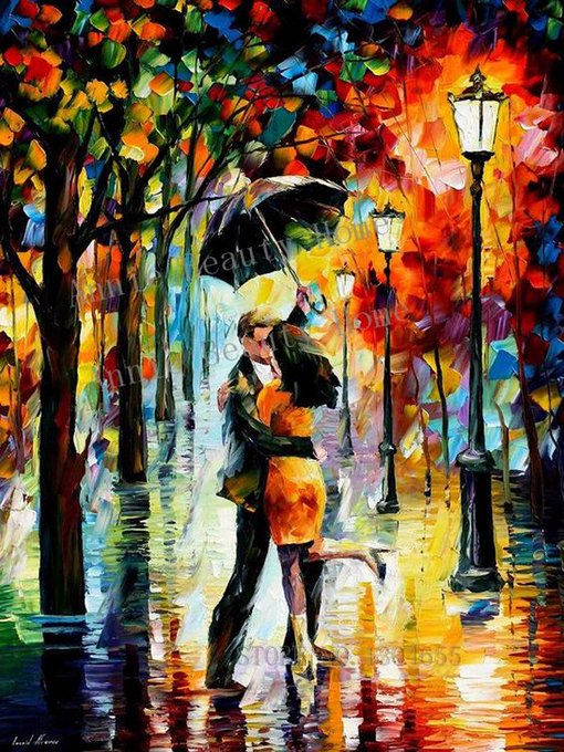 Mosaic craft kit, Couple dancing in the rain. Craftkits Crafts