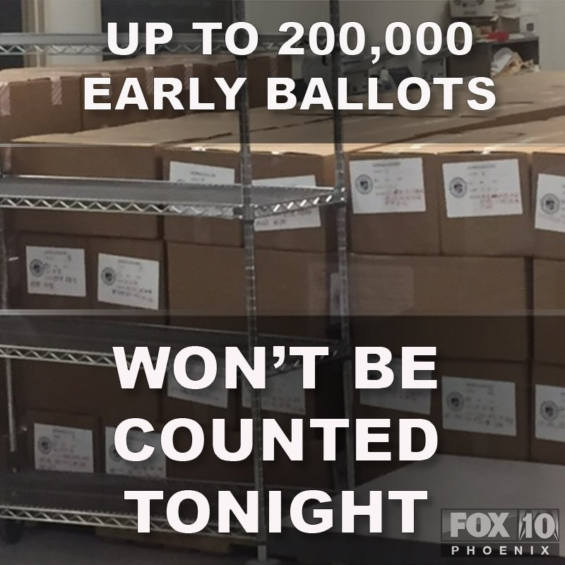 Breaking: More than 1M people in Maricopa County voted early. We've just learned the county recorder won't be able to count 'em all.