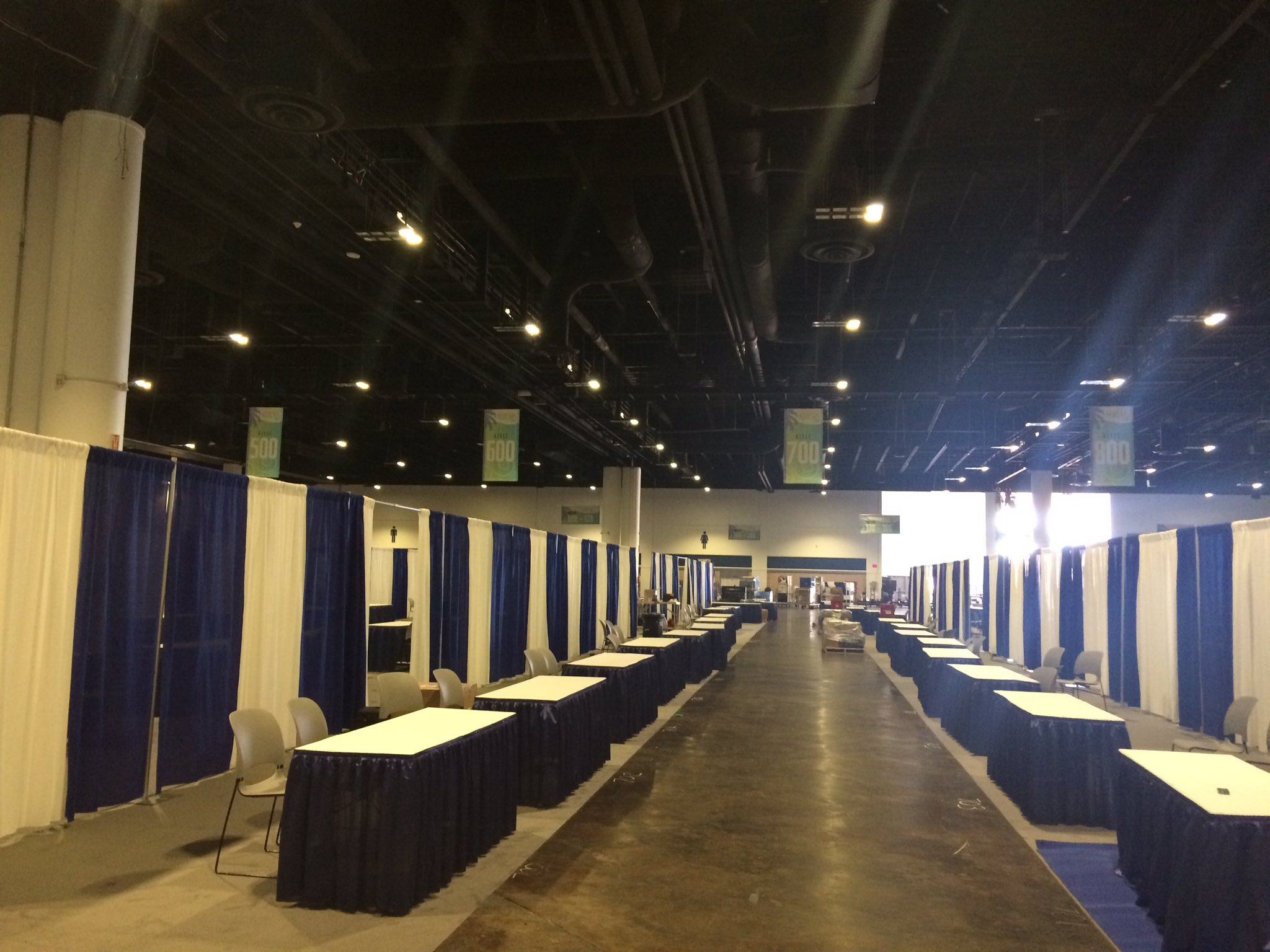 Setting up the exhibit hall for our record 353 exhibit booths! #ABRCMS https://t.co/9HBvgERfyH