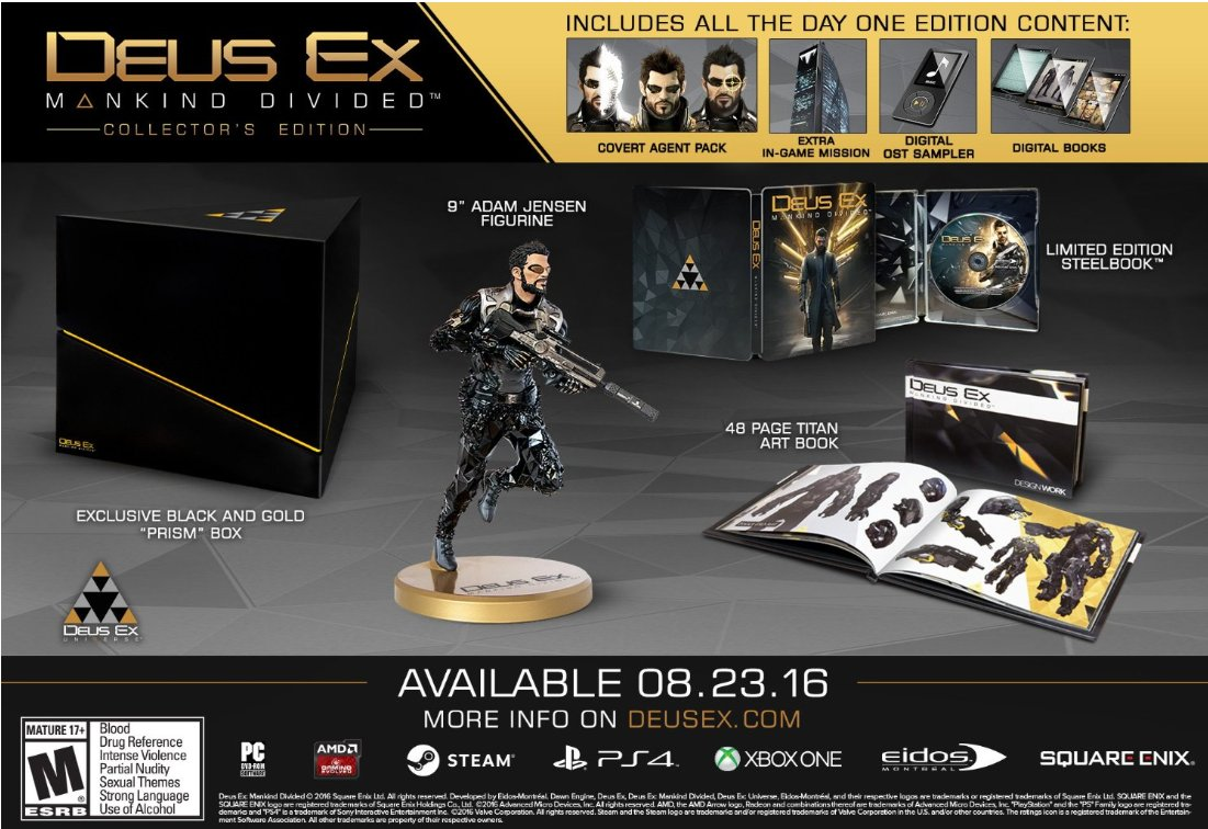 Xbox One Reddit Hot On Twitter Deals Deus Ex Mankind Divided Collector S Edition Xbox One 59 Https T Co 93yaxcepub