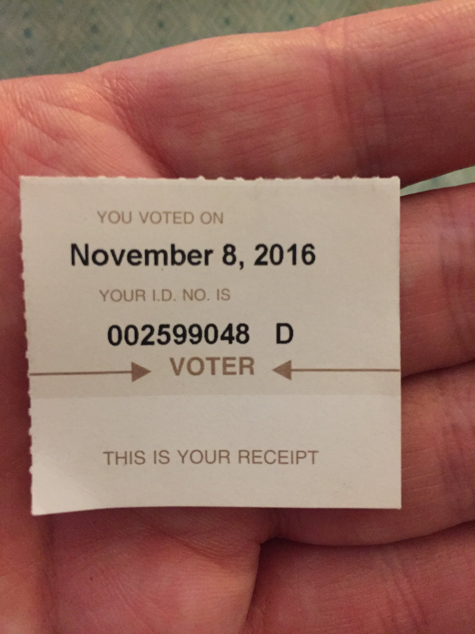 After an exciting day at #TRETC2016 I was able to fulfill my civic duty. https://t.co/r2ZbAyXW3Z