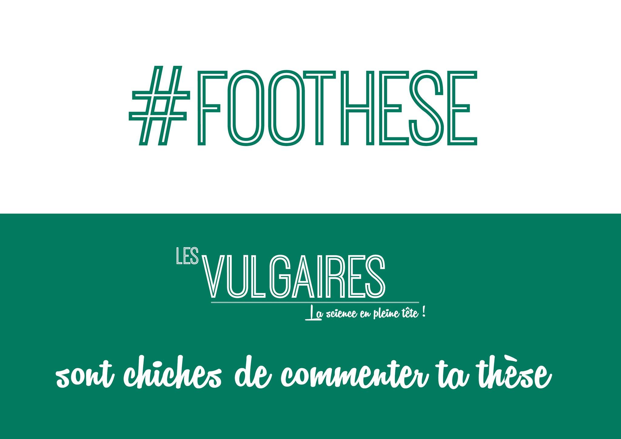 #FOOTHESE @Les_Vulgaires commentent ta thèse. Va y avoir du sport! On commence avec celle d'Alma à @Lille3 dès 14h! https://t.co/NapS1QjVpP https://t.co/fNpuf7dO2M