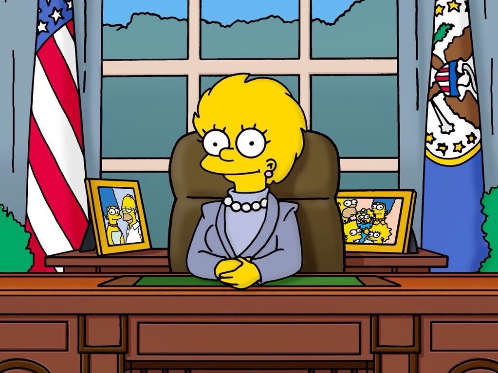 Yo votaría por Lisa Simpson. #ElectionDay #USA https://t.co/8BLGGOCCnd