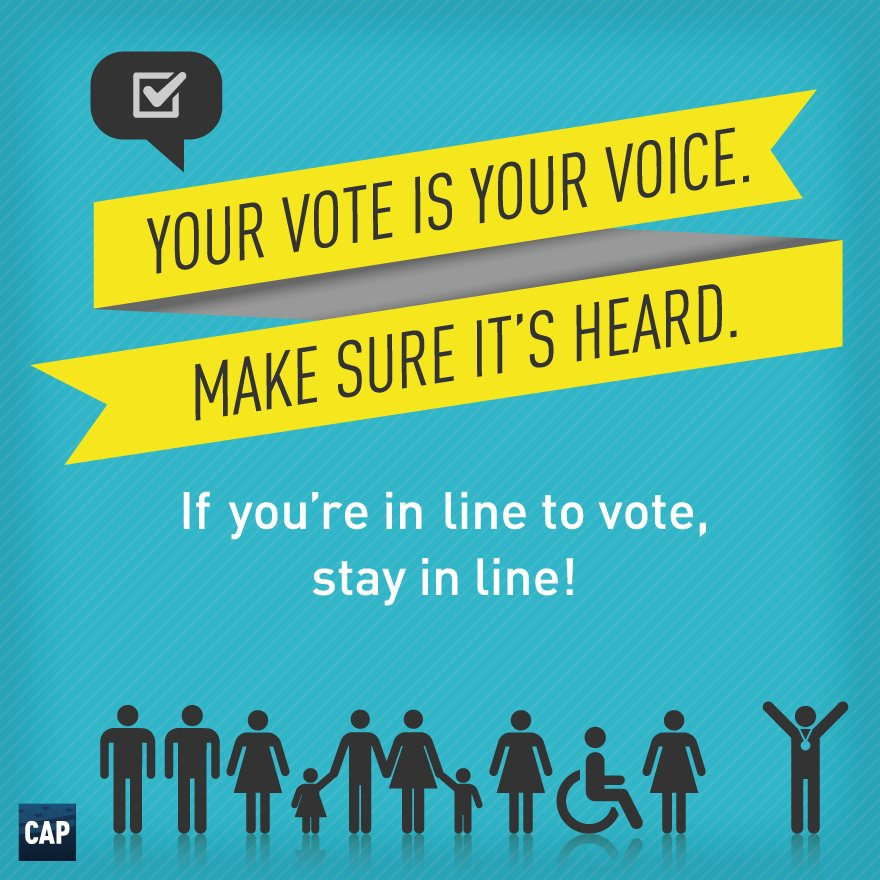 If you are in line when polls close, STAY IN LINE. You will still be able to cast your ballot! https://t.co/4oWp6rVEL6