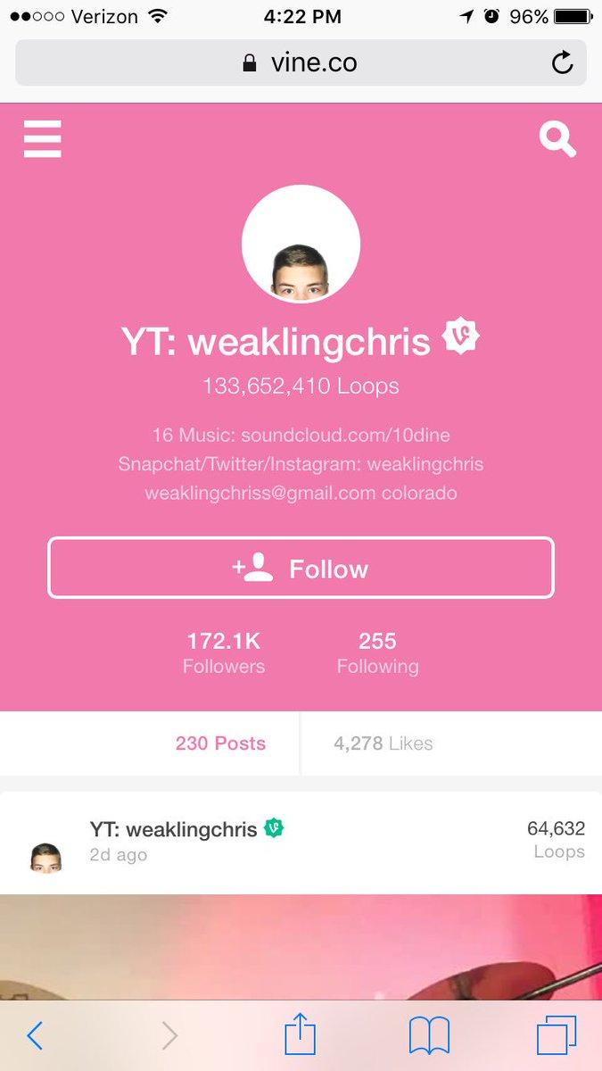weaklingchris hashtag on Twitter