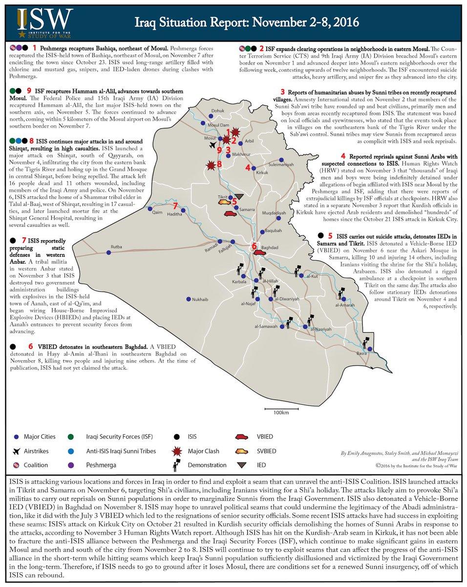 ISW On Twitter Iraq Situation Report November 2 8 2016 Tco UdQYeMrPEk