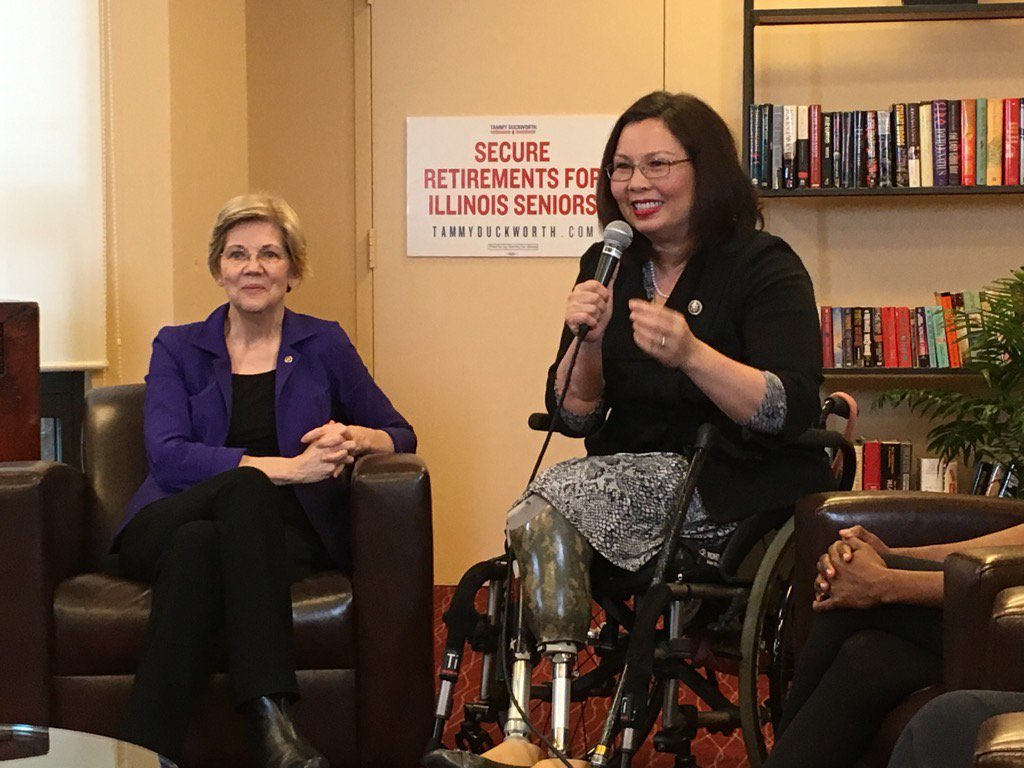 My friend @TammyforIL is one of the toughest fighters I know. Delighted to have her in the Senate! #electionnight https://t.co/xibunzvFm6