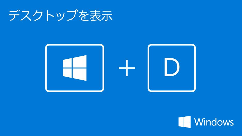 「Windowsキー + D」の画像検索結果