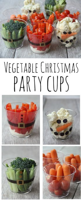 Vegetable Christmas party cups tips DIY Food Mymommystyle